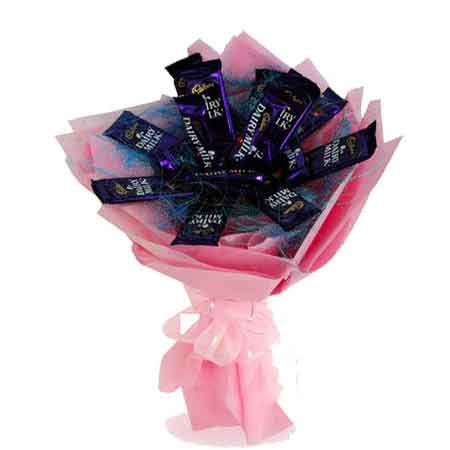 Same Day Online Dairy Milk Chocolate Bouquet Delivery In Kanpur