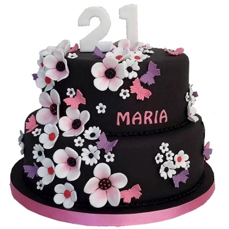 Magnificent Order Birthday Cakes For Her Online Delivery Kanpur Gifts Personalised Birthday Cards Paralily Jamesorg