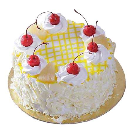 Order Half Kg Designer Pineapple Cake Online Delivery Kanpur Gifts