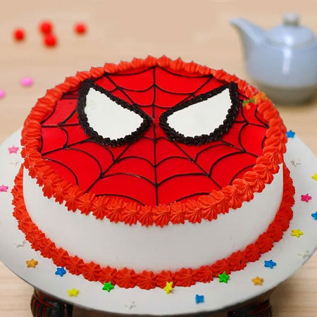 Peachy Send Spiderman Eggless Cake Online Delivery Kanpur Gifts Funny Birthday Cards Online Hendilapandamsfinfo