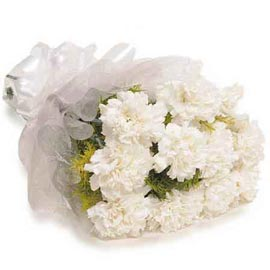 buy 10 white carnations special bunch urgent delivery in kanpur