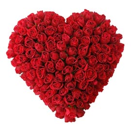 buy 100 red roses heart shape basket same day delivery in kanpur