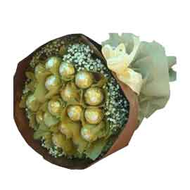 24 hrs online 16 pcs ferrero rocher bouquet delivery in kanpur