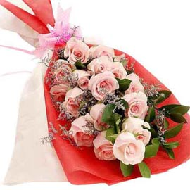 send 20 pink roses flat bunch 24 hrs delivery in Kanpur