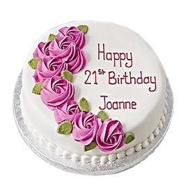 Send Online 21st Bday Vanilla Cake Delivery In Kanpur