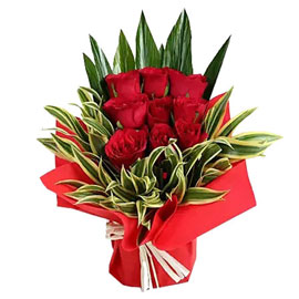 send 9 red roses premium arrangement delivery Kanpur