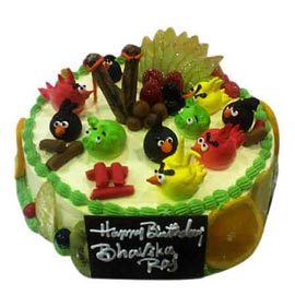 Buy online angry bird fruit cake delivery in Kanpur @ best cake shop