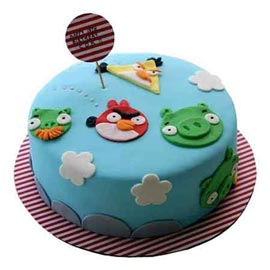 Send online angry birds vanilla cake delivery in kanpur