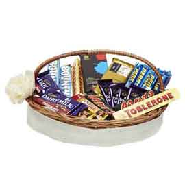 send online assorted chocolate hamper delivery in kanpur