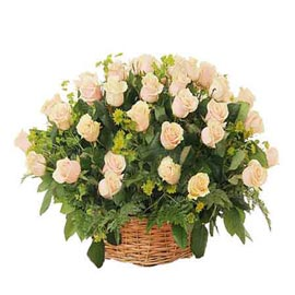 buy 25 white roses cane basket same day delivery in kanpur