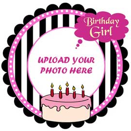 online delivery of bday girl photo cake delivery in kanpur