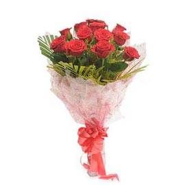 send 12 red roses bunch urgent same day delivery in Kanpur