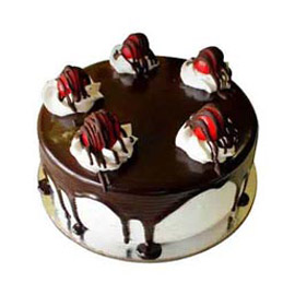 Send Half kg black forest lava cake from kanpurgifts.com - local bakery