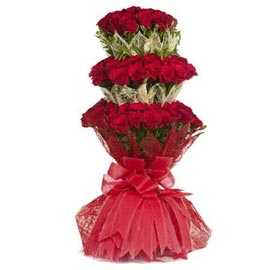 buy 70 red roses jute packing  bunch urgent delivery in kanpur