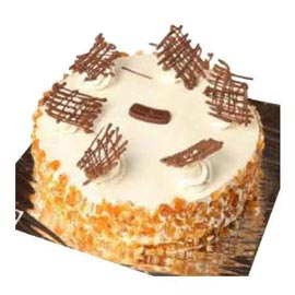 Send delivery of half kg butter scotch crunch cake in Kanpur