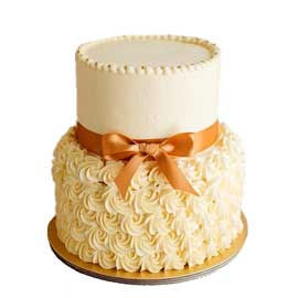 Send online designer roses party cake delivery in kanpur