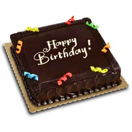 Send online half kg chocolate square cake delivery in kanpur