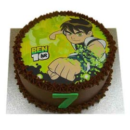 Urgent delivery of chocolate ben 10 cake in Kanpur