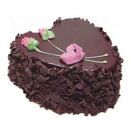 Buy online dark chocolate heart cake delivery in kanpur