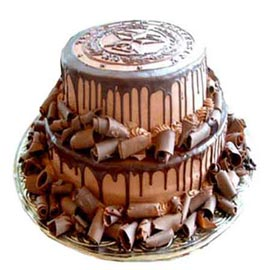 Buy online 2.5 kg chocolate rich party cake delivery in kanpur