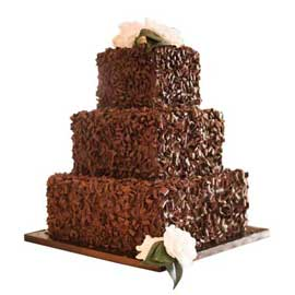 Send online chocolate square party cake delivery in kanpur