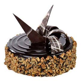 Send online 1 kg chocolate walnut cake delivery in kanpur
