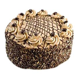Send 1 kg coffee cake online delivery in kanpur @ best cake shop
