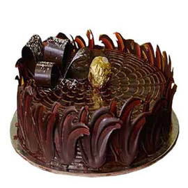 half kg dark truffle chocolate midnight cake delivery in Kanpur