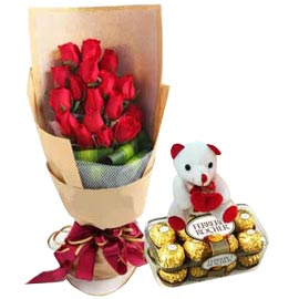 24 hrs online red roses, cute teddy n rochers delivery in kanpur