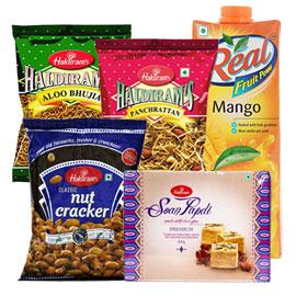 Same Day Online Father Gift Namkin Juice Sweet In Kanpur