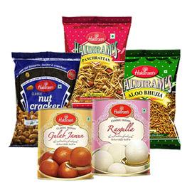 Same Day Online 400gms Panchratan Aloo Bhujia Nut Cracker 1kg Rasgulla Gulab