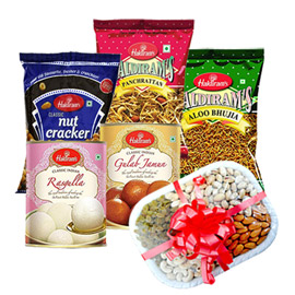 same day online mother day gifts namkin, sweets & dry fruits in kanpur