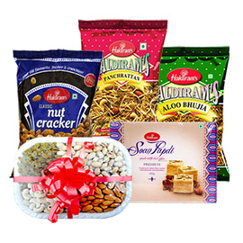 same day online gifts for parents namkin, sweet & dry fruit in kanpur