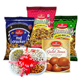 same day online gift for mother sweet, namkin & dry fruit  in kanpur