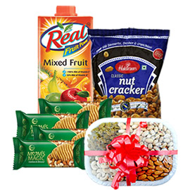 same day online father day gift juice, namkin, coockies & dry fruits in kanpur