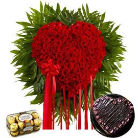 24 hrs online chocolates, chocolate chocolate heart n red roses delivery in kanpur