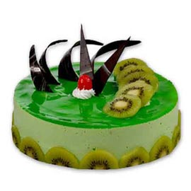 Send 1 kg kiwi cheese cake from kanpurgifts.com - local bakery