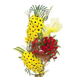 send 50 gerberas n 30 carnations tall basket urgent delivery in kanpur