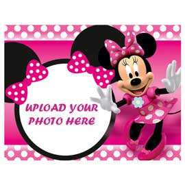 online delivery of pink minnie mouse photo cake delivery in kanpur