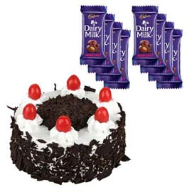 Buy online cadbury chocolates n black forest cake in kanpur