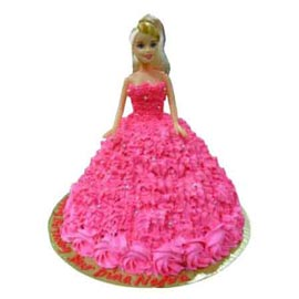 Send online 2 kg pink barbie cake for her delivery in kanpur