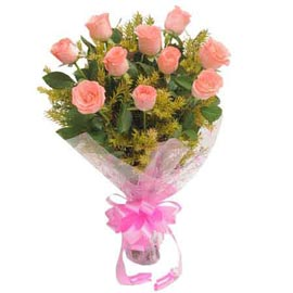 send 10 orange roses bunch xpress delivery in Kanpur