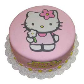 Buy online pink kitty cake delivery in Kanpur @ best cake shop