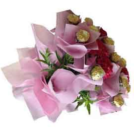 xpress online pink propose bouquet delivery in kanpur