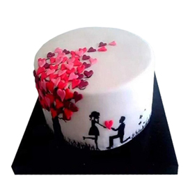 Send Propose Day Cake Delivery in Kanpur