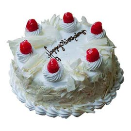 Buy online half kg premium white forest cake delivery in kanpur