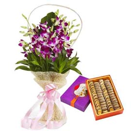 Midnight online Purple-blooms bunch n anjeer-sweet in kanpur
