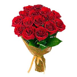 send 10 red roses jute packing bunch same day delivery in kanpur