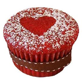 Buy online red charm cup cake delivery in kanpur
