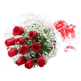 send 10 red roses bunch urgent delivery in Kanpur